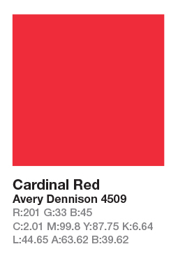 AVERY 4509 Cardinal Red