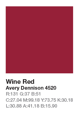 AVERY 4520 Wine Red