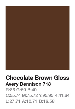 Avery 718 Chocolatte Brown