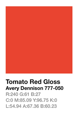 Avery 777-050 Tomato Red