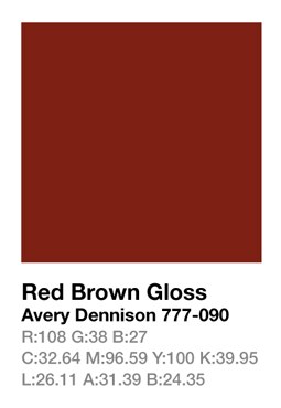 Avery 777-090 Red Brown