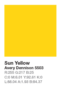 AVERY 5503 Sun Yellow š.123cm