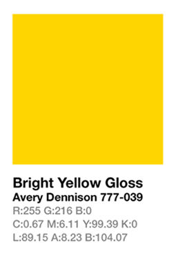 Avery 777-039 Bright Yellow š.123cm