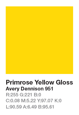 Avery 951 Primrose Yellow š.123cm